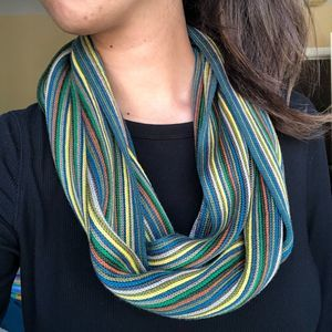 Coldwater Creek Rainbow Colorful Circle Wrap Scarf